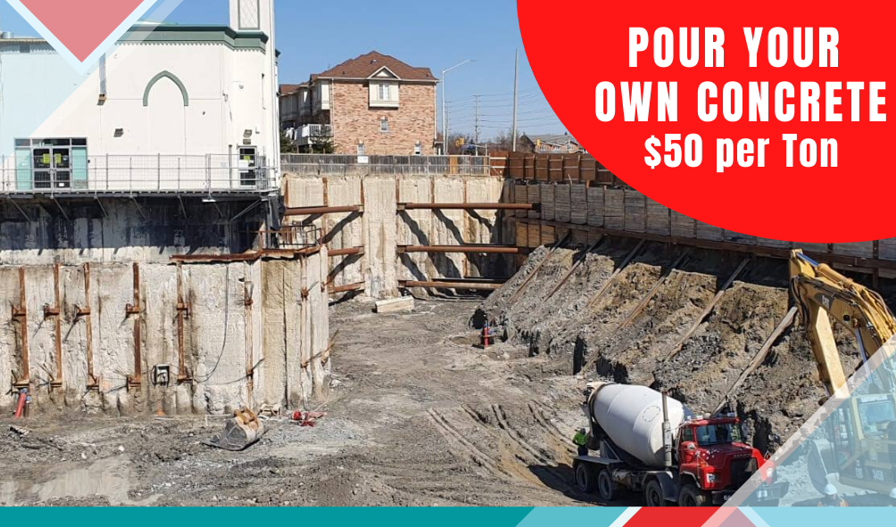 Pour Your Own Concrete $50 per Ton